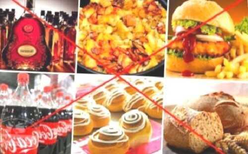 не стоит налегать на алкоголь и жирные продукты