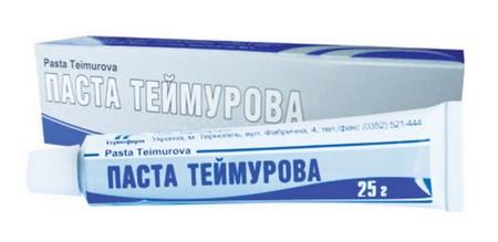 Характеристика и правильное использование препарата Теймурова паста