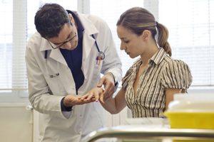Диагностика микоза кожи рук