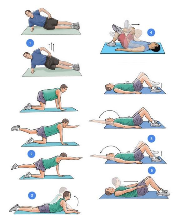 Эффективное восстановление мышц с упражнениями Дикуля для спины при грыже. Примерный комплекс