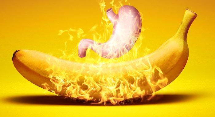 банан и желудок