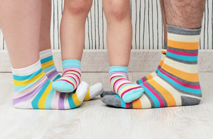 Семья в носках