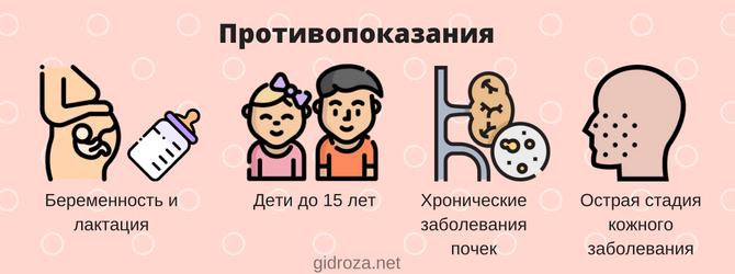Противопоказания к применению пасты Теймурова