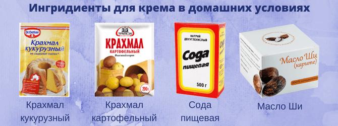 Ингредиенты для крема в домашних условиях