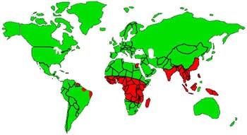филяриатоз география